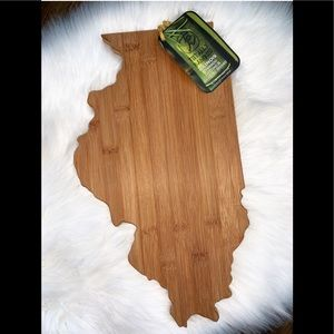 Other - illinois shaped bamboo cutting board